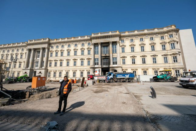 80 firefighters tackle blaze at rebuilt Kaiser's palace in Berlin