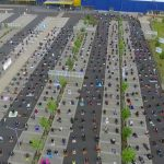 Car park prayers to noodle hats: How Germany is social distancing