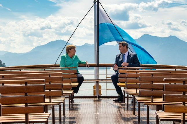 IN PICTURES: Merkel receives royal treatment during visit to Bavaria