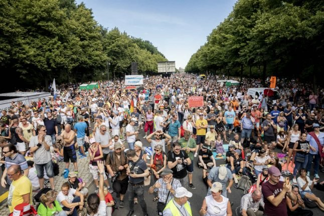 German demo against coronavirus rules sparks row over protest freedoms