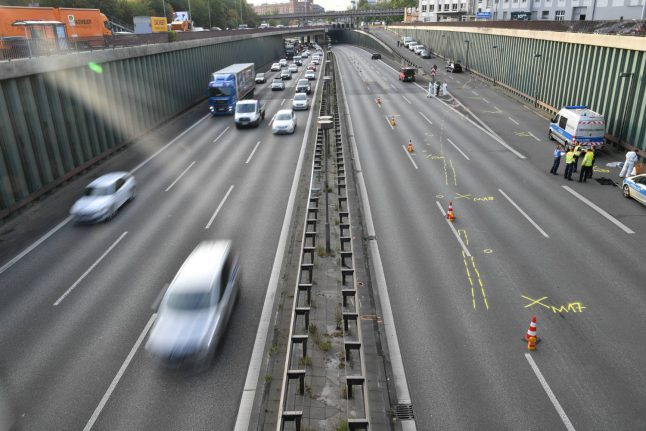 Six injured after man causes series of Berlin Autobahn crashes in 'possible Islamist attack'
