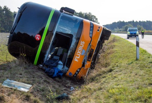 Bus crash in north Germany leaves one person seriously injured
