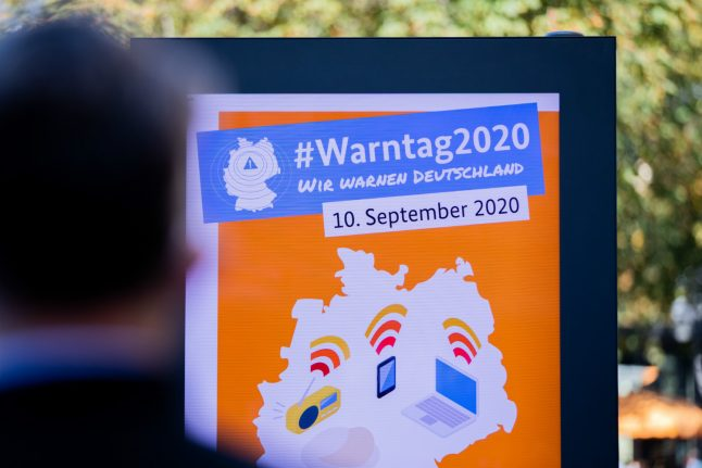 Update: Germany launches first 'catastrophe awareness warning day'