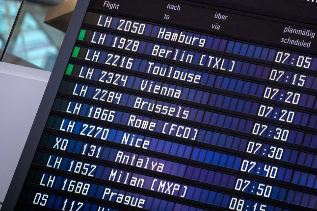 How will international travel from Germany look from October?
