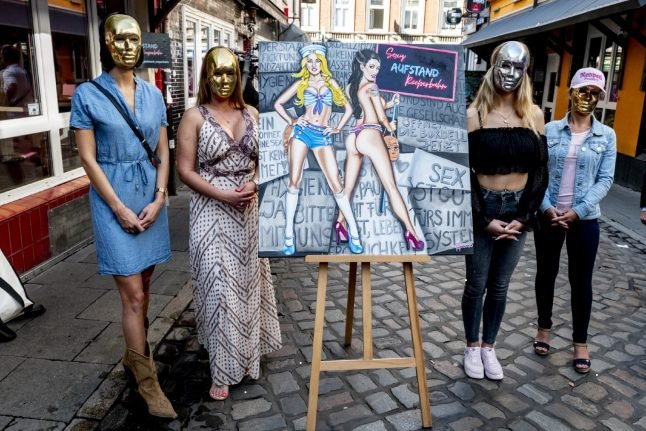 Hamburg sex workers celebrate easing of coronavirus restrictions
