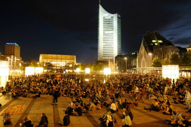 Thousands of protesters call on Germany and EU to accept refugees after Moira fire