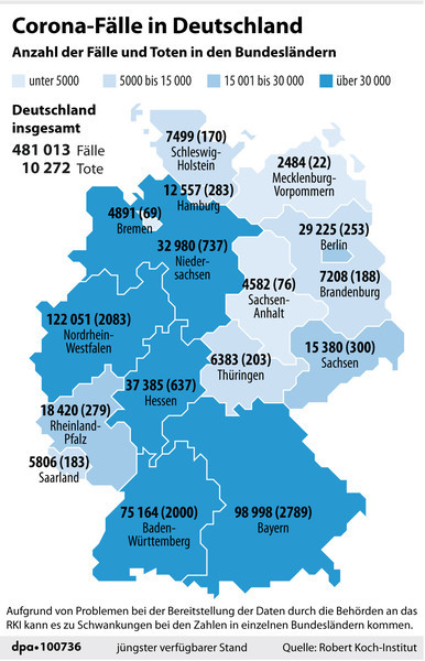 The charts and maps that explain the state of the pandemic in Germany - The Local
