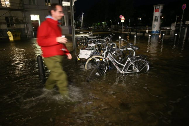 Northern Germany hit with flooding after storm