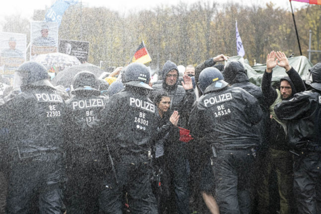 IN PICTURES: Here's what happened at the anti-coronavirus measures protest in Berlin
