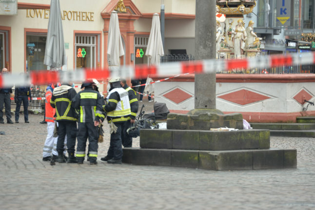 Baby among four killed as car runs down shoppers in German city of Trier