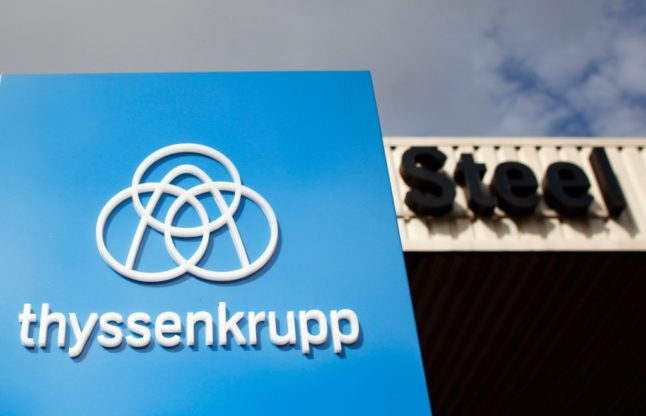 German steel giant rejects 'high cost' state support