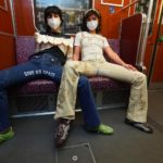 Berlin activists show manspreaders who wears the trousers