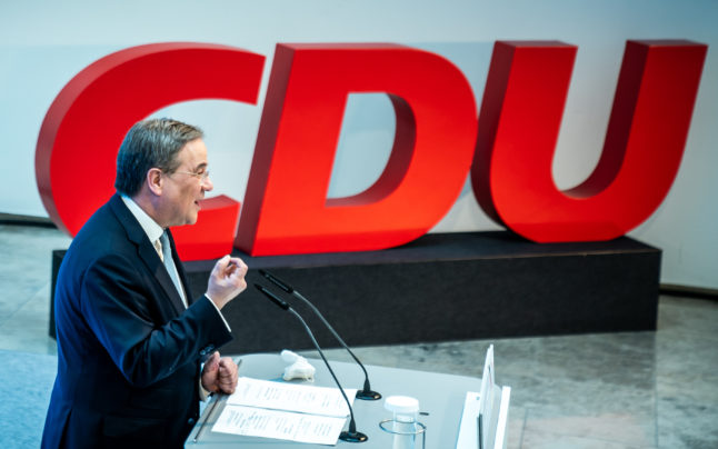 Merkel party leaders back Armin Laschet as chancellor candidate