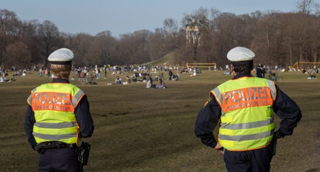 Police move in against parties and crowds as Germans take to parks in sunny weather