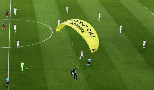 Two hospitalized in Munich after activist crashes parachute into Euro 2020 stadium