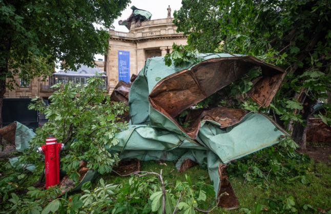 IN PICTURES: Devastating storm rips through southern and western Germany