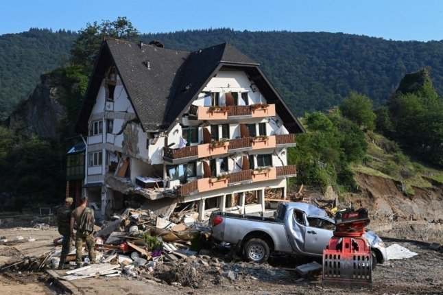 German floods death toll hits 180, with 150 still missing