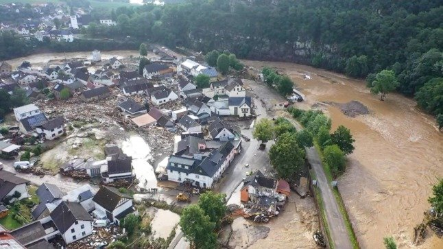 IN PICTURES: Torrential rain and flooding leaves trail of destruction across western Germany