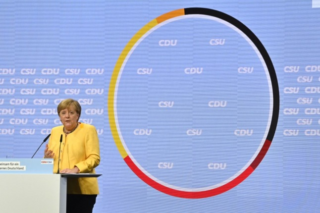 Merkel rides to the rescue as conservatives plunge ahead of German election