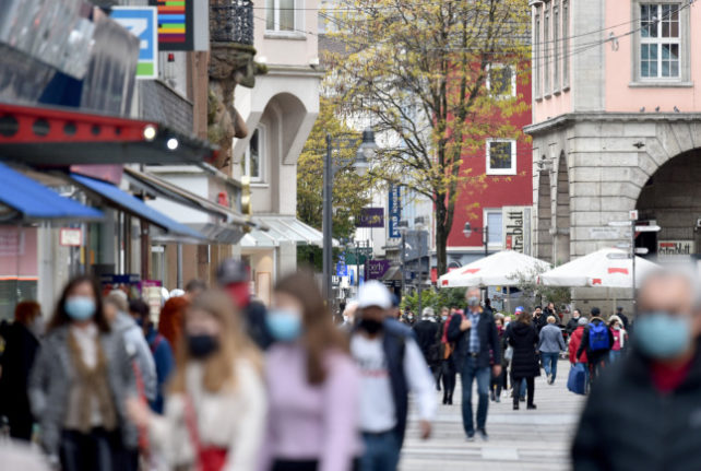 Covid infections fall in Germany for first time since July