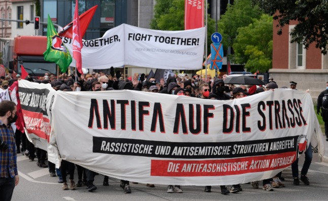 IN PICTURES: 1200 demonstrators protest far-right march in Weimar