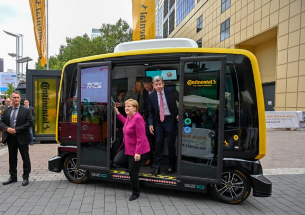 Merkel's climate strategy called into question at last visit to motor show