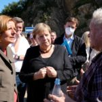 Merkel tours German flood zone to drum up party support