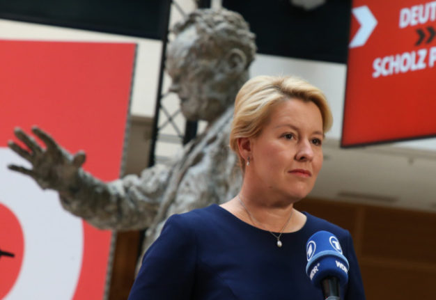Centre-left SPD candidate Giffey wins Berlin mayoral race