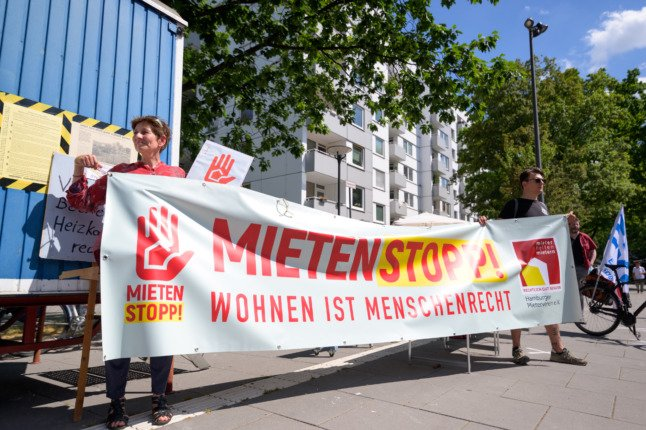 Protesters in Berlin call for a national rent cap